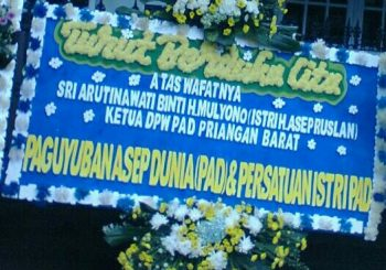 PAD Turut Berduka Cita – Atas Wafatnya ibu Sri Arutinawati binti H.Mulyono, Istri Bpk.H. Asep Ruslan