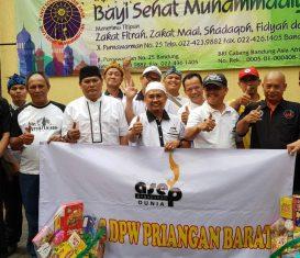 Bakti sosial dan Bukber Paguyuban Asep dunia Dpw. priangan Barat. 10 Juni 2018 Ke Panti asuhan Bayi sehat – Muhammadiyyah. Bandung